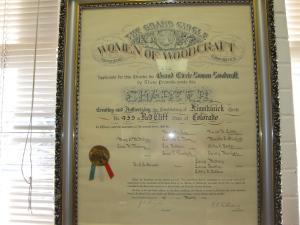 Women of Woodcraft Charter, 1902