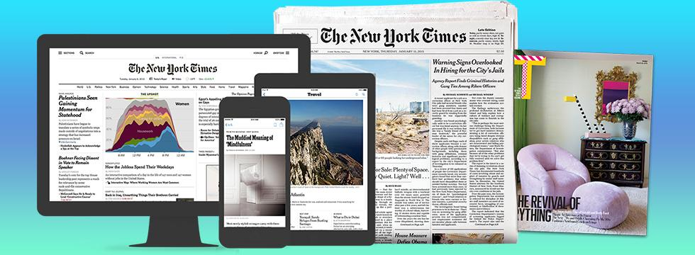 New York Times online access Banner
