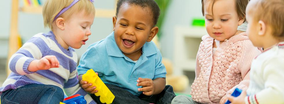 Picture of babies playing at storytime