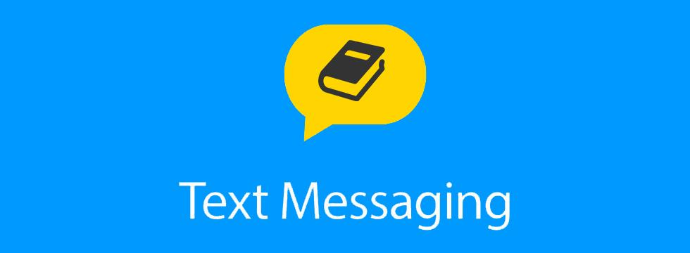 Text Messaging Library Notice Banner