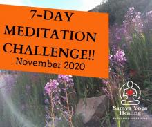 7 day meditation challenge promotional picture