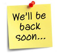 Be Back Soon post it note