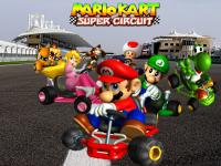 Mario Kart Game cover page. Shows Mario and friends racing go-karts