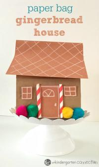 Paperbag Gingerbread house